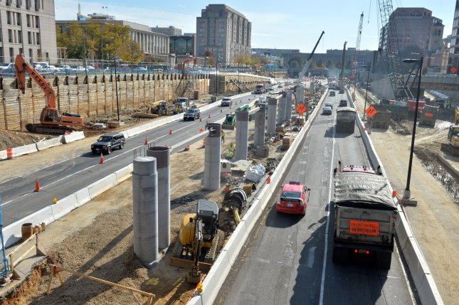 Much of the American Jobs Plan includes hundreds of billions of dollars to repair critical U.S. infrastructure like bridges, roadways and other transportation elements. File Photo by Kevin Dietsch