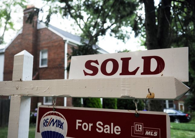 A sold sign outside a home for sale is seen in Arlington, Virginia on July 23, 2009. (UPI Photo/Alexis C. Glenn)