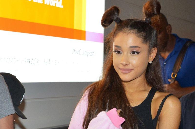 Ariana Grande arrives at Tokyo International Airport in Tokyo, Japan on Aug. 13. File photo by Keizo Mori/UPI