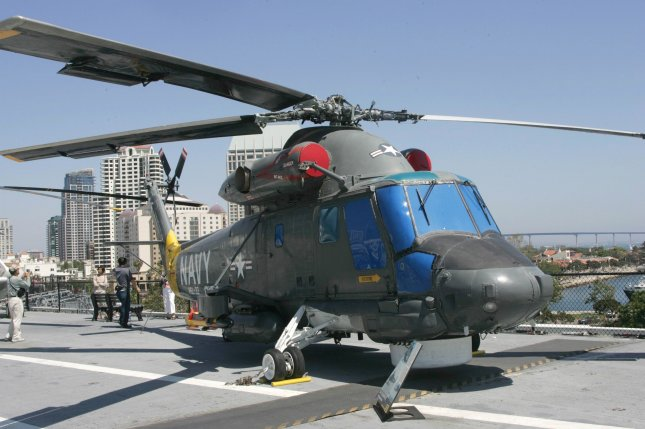 New Zealand has officially retired its SH-2G Seasprite from its naval forces, replacing it with the newer SH-2G(I) Super Seasprite. Pictured a SH-2G Seasprite displayed on the USS Midway's Flight Deck on the Aircraft Carrier Museum in San Diego Harbor, San Diego CA, July 4, 2005. File photo by Roger Williams/UPI