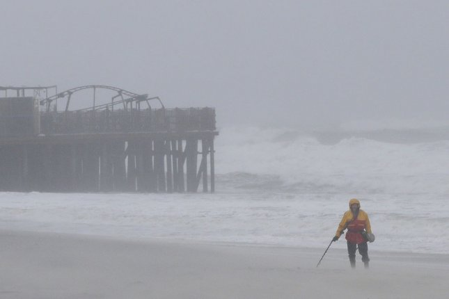 British forecasters issue wind alerts from what's of Hurricane Ophelia, but the storm isn't impacting the regional energy sector so far. File photo by John Angelillo/UPI