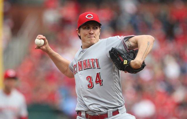 Homer Bailey and the Cincinnati Reds face the Chicago Cubs on Friday. Photo by Bill Greenblatt/UPI