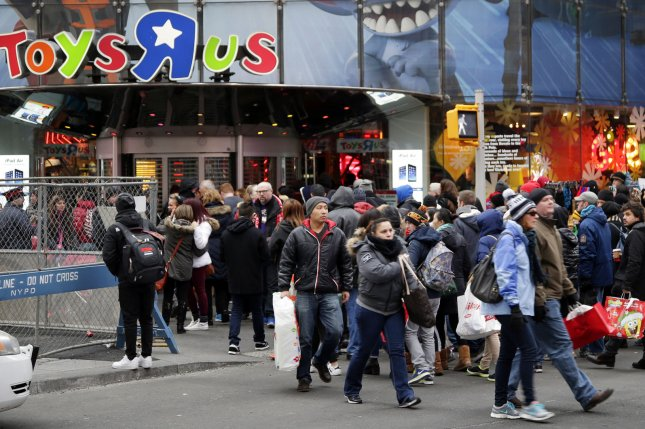 The Toys 'R' Us store in New York City's Times Square was among those closed and liquidated in 2018. File Photo by John Angelillo/UPI