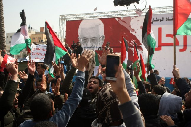 Gazans rally for removal of Palestinian Authority president