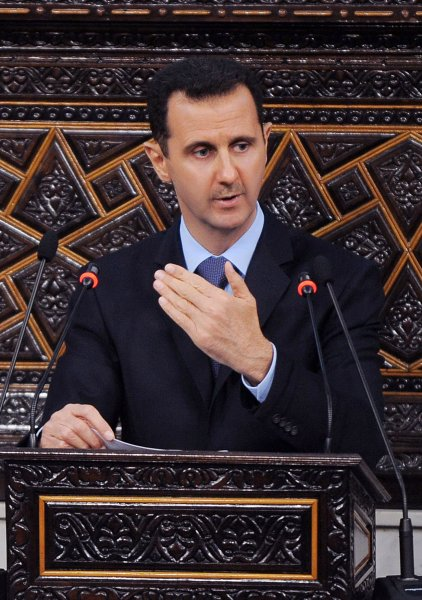 Syrian President Bashar al-Assad addresses parliament on March 30, 2011 in Damascus, Syria. Al-Assad ordered a committee to conduct an investigation into the deaths of protesters and also to study the lifting of emergency laws. UPI