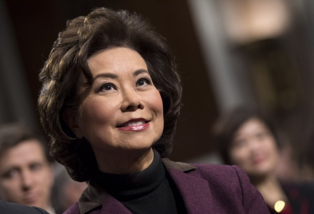 Elaine Chao testifies during her transportation secretary confirmation hearing before the Senate Committee on Commerce, Science, and Transportation on Capitol Hill in Washington, D.C. on January 11, 2017. Photo by Kevin Dietsch/UPI