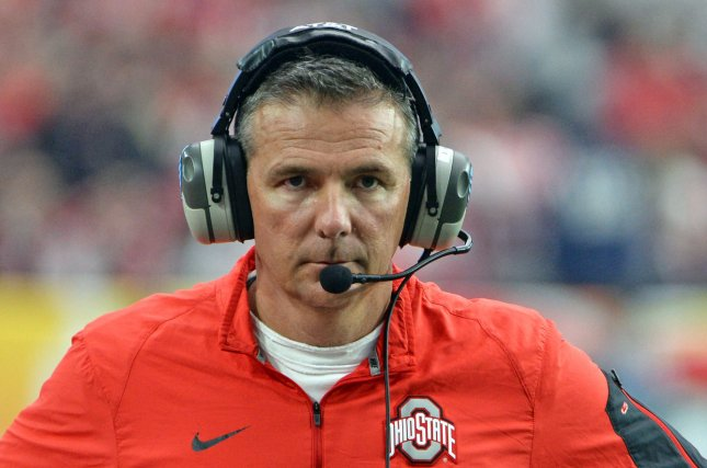 Ohio State Buckeyes head coach Urban Meyer walks the sidelines in the second quarter of the Fiesta Bowl against Notre Dame on January 1, 2016 at University of Phoenix Stadium in Glendale, Arizona. File photo by Art Foxall/UPI