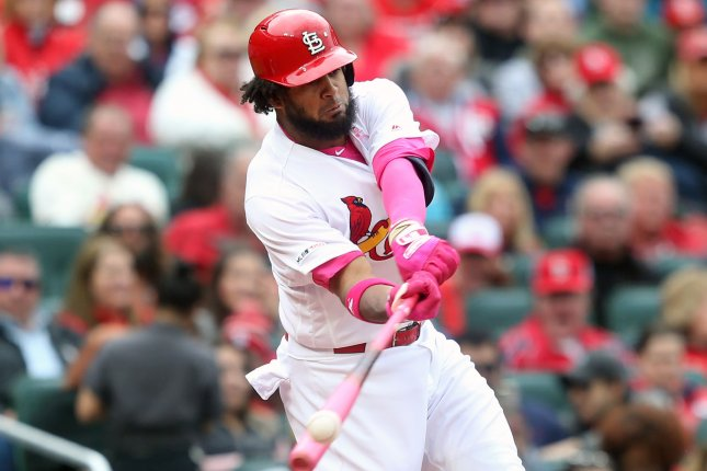 Jose Martinez and the St. Louis Cardinals will play both games of a two-game series against the Kansas City Royals on Wednesday at Busch Stadium in St. Louis. Photo by Bill Greenblatt/UPI