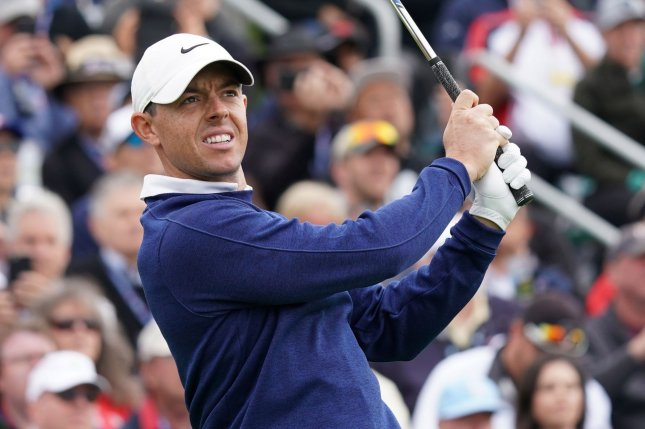 Rory McIlroy made four birdies during the event, earning $150,000 for a separate charity fund from Farmers Insurance. File Photo by Kevin Dietsch/UPI