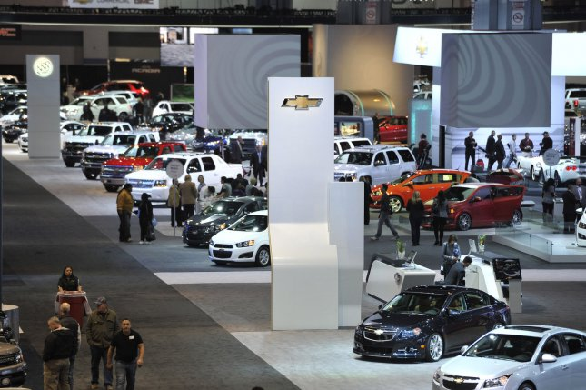 Card are shown at the General Motors area during the Chicago Auto Show at McCormick Place on February 9, 2012 in Chicago. UPI/Brian Kersey