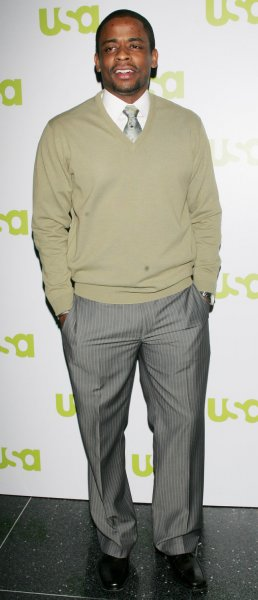 Dule Hill of the show Psych attends the USA Network 2007 Upfront event for new and returning programs which will be part of the cable television's upcoming lineup on March 28, 2007 in New York City. (UPI Photo/Monika Graff).