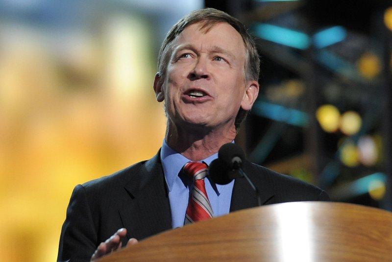 Colorado Governor John Hickenlooper. UPI/Mike Theiler