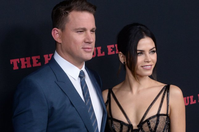 Channing Tatum and his wife, actress Jenna Dewan-Tatum, will appear on the Season 2 premiere of Lip Sync Battle. They are seen here at the premiere of The Hateful Eight in Los Angeles on December 7, 2015. Photo by Jim Ruymen/UPI
