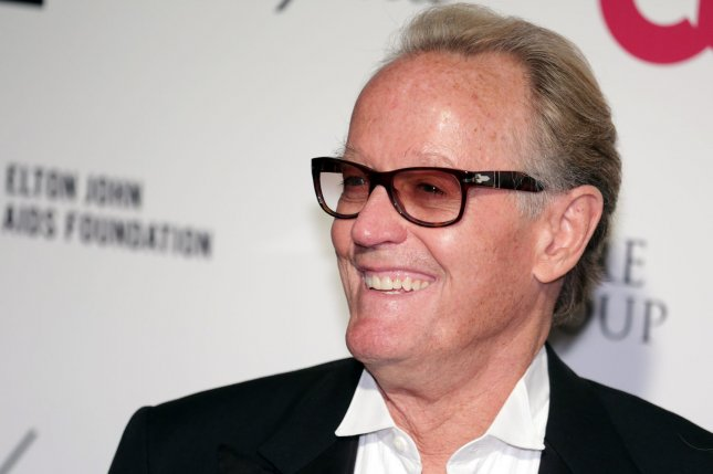 The Ogilvy Fortune star Peter Fonda arrives for the Elton John AIDS Foundation Academy Awards Viewing Party in Los Angeles on February 22, 2015. File Photo by Jonathan Alcorn/UPI