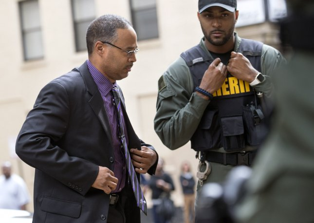 Baltimore police officer Caesar Goodson was found not guilty of all administrative charges for his role in the 2015 death of Freddie Gray, who sustained severe spinal injuries in a van driven by Goodson. File Photo by Kevin Dietsch/UPI