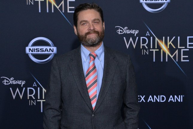 Zach Galifianakis voices a Sasquatch alongside Hugh Jackman as an explorer in the latest trailer for animated film Missing Link. File Photo by Jim Ruymen/UPI
