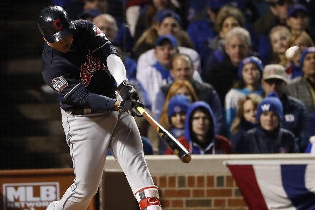 Cleveland Indians third baseman Jose Ramirez is hitting .205 with three home runs and 11 RBIs in 35 games this season. File Photo by Kamil Krzaczynski/UPI