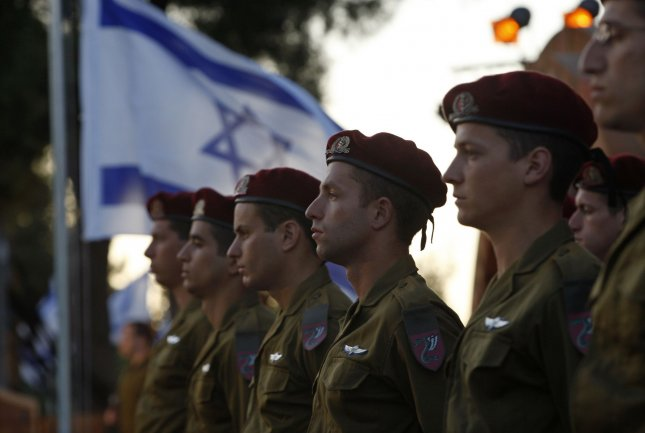 Israeli soldiers stand in formation during a ceremony marking Jerusalem Day at Ammunition Hill in Jerusalem on May 12, 2010. Jerusalem Day marks the anniversary of Israel's capture of the Eastern part of the city during the 1967 Middle East War. Israel annexed East Jerusalem as part of its capital in a move not recognized internationally. UPI/Baz Ratner/Pool