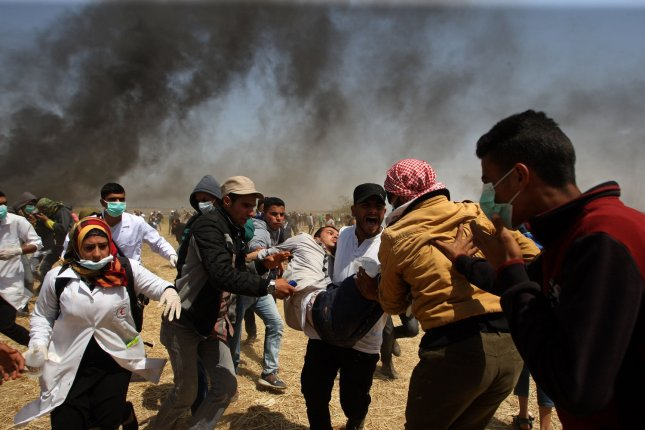 International Criminal Court lead prosecutor Fatou Bensouda called for an end to violence at the Isreal-Gaza border warning further crimes could be subject to action from her office. Photo by Ismael Mohamad/UPI