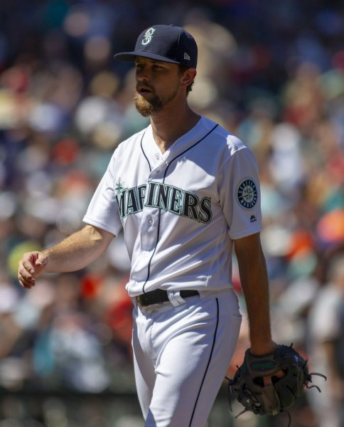 Mike Leake and the Seattle Mariners take on the Oakland A's on Friday. Photo by Jim Bryant/UPI