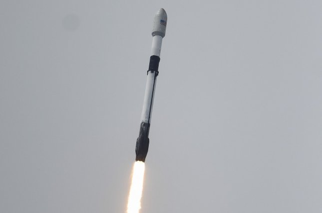 A SpaceX Falcon 9 rocket launches the Transporter-2 mission, a cluster of small 88 satellites for commercial and U.S. government clients, from Cape Canaveral Space Force Station in Florida on Wednesday, Photo by Joe Marino/UPI