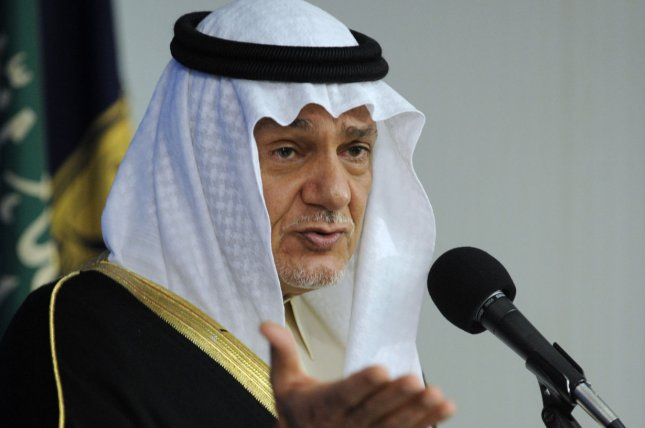 Prince Turki Al Faisal of Saudi Arabia, former director general of the Saudi General Intelligence Directorate and former Saudi ambassador to the United States, voiced his criticism of U.S. policy in the Middle East this weekend. (UPI/Roger L. Wollenberg)