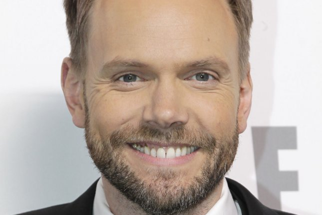 Joel McHale arrives on the red carpet at the 2015 NBCUniversal Cable Entertainment Group Upfront in New York City on May 14, 2015. Photo by John Angelillo/UPI