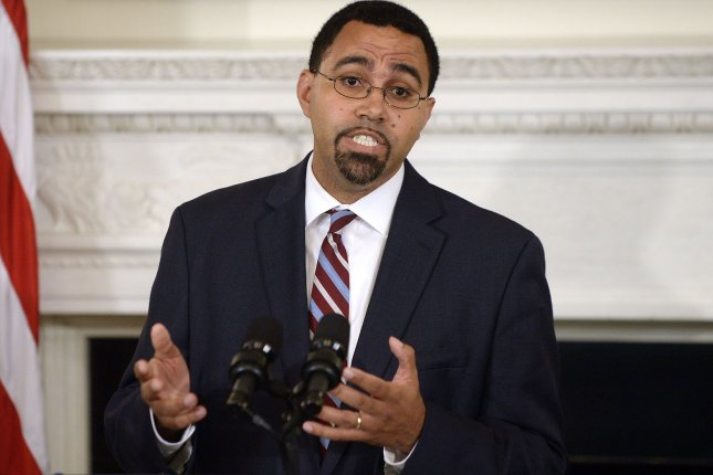 Acting Education Secretary John King, seen here in October, called for the reauthorization of the Perkins Act, a program that supports career and technical education. Pool Photo by Olivier Douliery/UPI