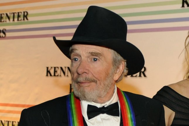 Country singer and songwriter Merle Haggard, a 2010 Kennedy Center Honoree, died Wednesday, his 79th birthday. File Photo by Mike Theiler/UPI