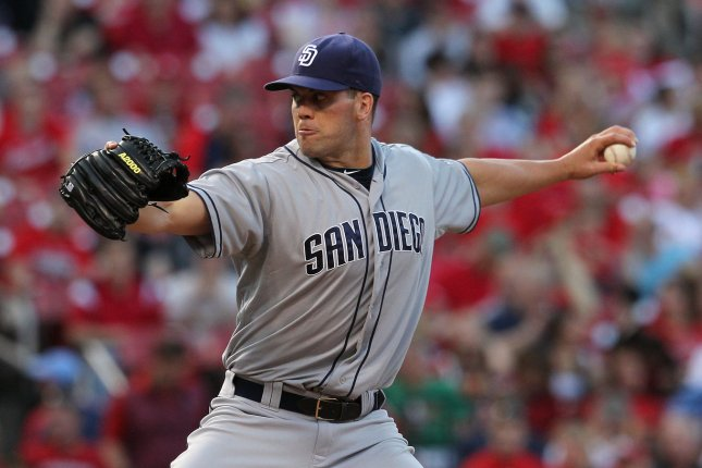 San Diego Padres starting pitcher Clayton Richard delivers a pitch. File photo by Bill Greenblatt/UPI