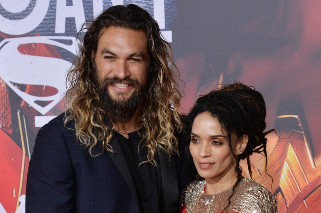 Jason Momoa (L) and Lisa Bonet attend the Los Angeles premiere of Justice League on Monday. Photo by Jim Ruymen/UPI