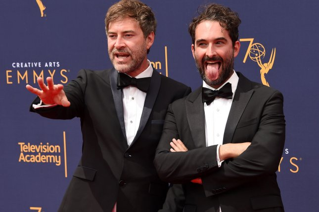 Mark (L) and Jay Duplass created the anthology series, Room 104. File Photo by Gregg DeGuire/UPI