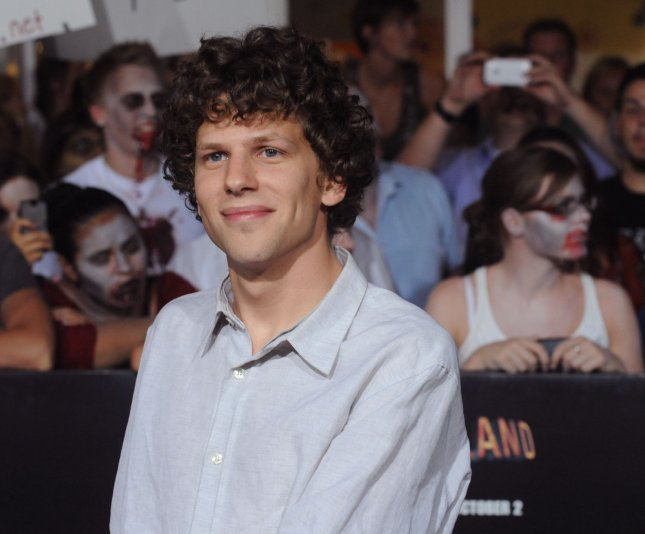 Jesse Eisenberg, a cast member in the motion picture horror comedy Zombieland, attends the premiere of the film at Grauman's Chinese Theatre in the Hollywood section of Los Angeles on September 23, 2009. UPI/Jim Ruymen