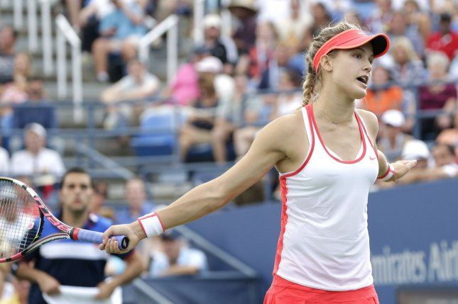 Canadian Eugenie Bouchard failed to advance to the second round of the Miami Open on Wednesday, falling to Australian Ashleigh Barty 6-4, 5-7, 6-3 in 2 hours, 5 minutes. File Photo by John Angelillo/UPI