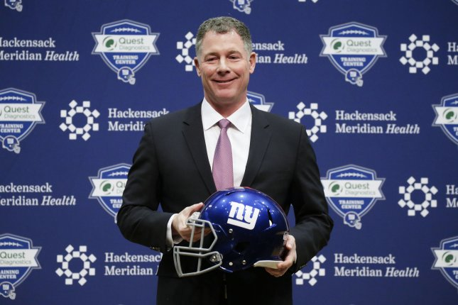 The New York Giant are aiming to return to relevance under new coach Pat Shurmur. Photo by John Angelillo/UPI