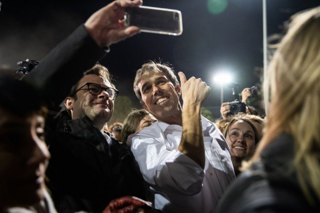 Presidential candidate Beto O'Rourke's campaign reported raising $6.1 million in 24 hours. Photo by Ariana Drehsler/UPI