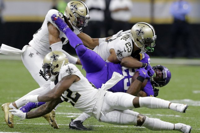 Minnesota Vikings running back Alexander Mattison (25) is one of my top waiver wire additions for Week 6. File Photo by AJ Sisco/UPI