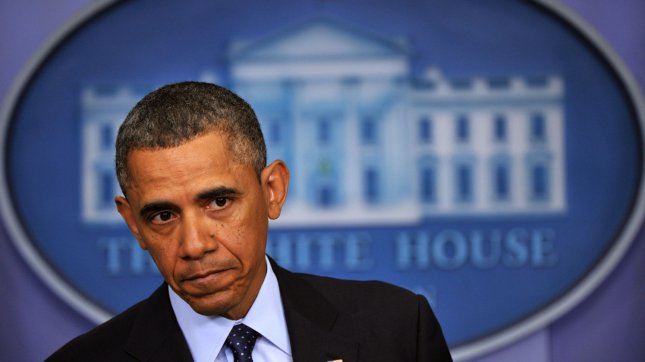 President Barack Obama speaks on the upcoming automatic government spending cuts, dubbed sequestration, after a meeting with Congressional leaders at the White House on March 1, 2013 in Washington, D.C. UPI/Kevin Dietsch