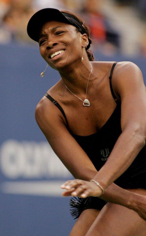 Venus Williams at the U.S. Open in New York, Sept. 10, 2010. UPI /Monika Graff