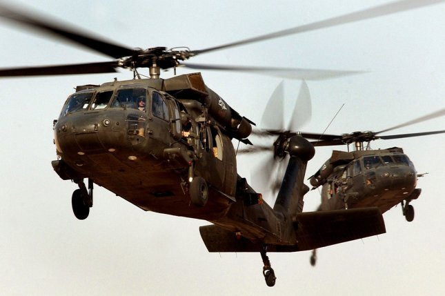 U.S. Army UH-60 Black Hawk helicopters pictured on August 8, 2006. UPI Photo/Russell Lee Klika/US Army