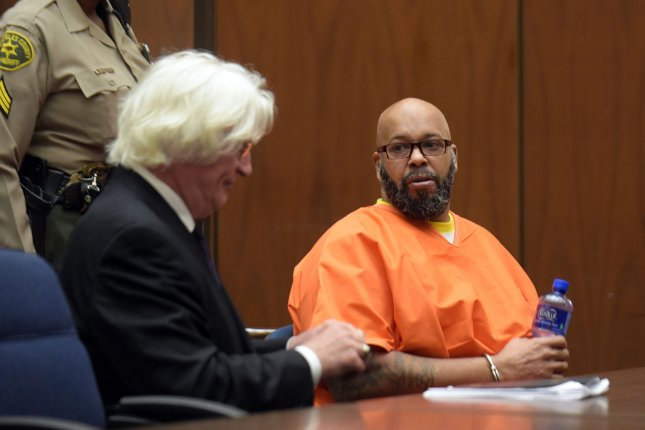 A judge sentenced Suge Knight Thursday to 28 years in prison for manslaughter, which was downgraded from a murder charge. File Photo by Frederick J. Brown/UPI