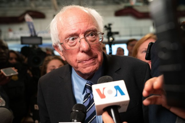 Democratic presidential candidate Sen. Bernie Sanders, I-Vt., was released from a Las Vegas hospital Saturday, the same day his daughter-in-law, Rainè Riggs, died. Photo by Kevin Dietsch/UPI