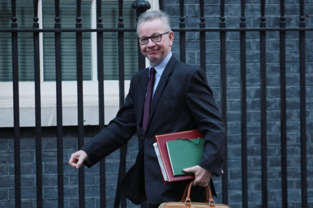 Cabinet Office Minister Michael Gove said Thursday Britain will set its own rules on who has access to it waterways. File Photo by Hugo Philpott/UPI