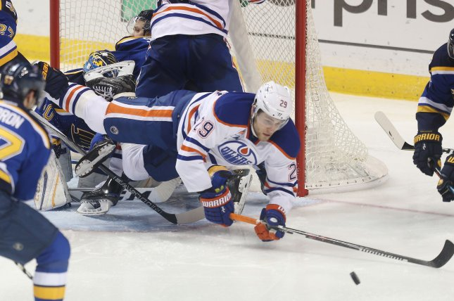 Edmonton Oilers forward Leon Draisaitl (29) finished ahead of Colorado Avalanche star Nathan MacKinnon and New York Rangers winger Artemi Panarin for the Hart Trophy. File Photo by Bill Greenblatt/UPI