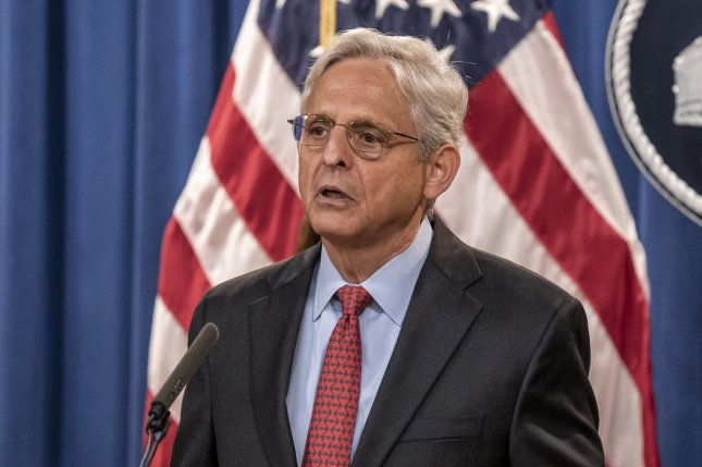 Attorney General Merrick Garland said the new restrictions are meant to increase transparency and increase physical safety during arrests. Photo by Ken Cedeno/UPI