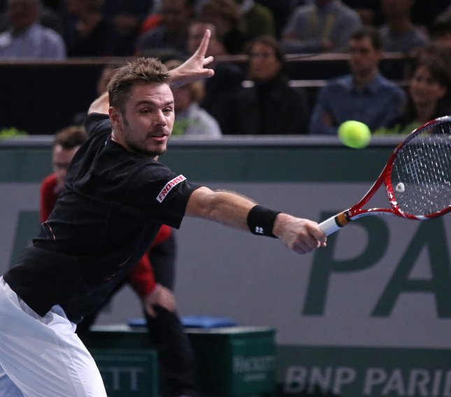 Stanislas Wawrinka, shown in a tournament last November, defeated Rafael Nadal in four sets Sunday and won the men's singles title at the Australian Open. It is his first grand Slam title.. UPI/David Silpa