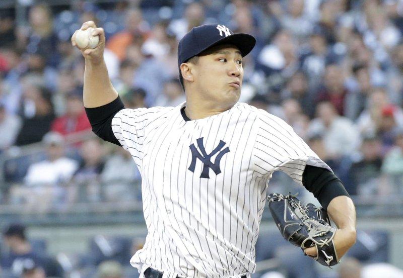 Masahiro Tanak and the New York Yankees face the Washington Nationals on Thursday. Photo by John Angelillo/UPI