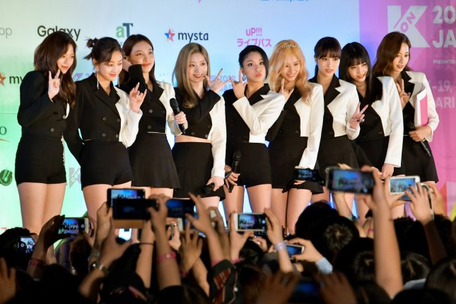 Twice celebrated on Twitter after Fancy reached 100 million views on YouTube. File Photo by Keizo Mori/UPI