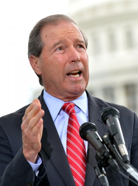 Sen. Tom Udall, D-N.M., introduced a constitutional amendment Tuesday seeking to place limits on campaign spending and overturn the Supreme Court's ruling on Citizens United. File Photo by Kevin Dietsch