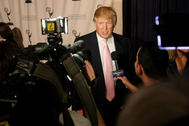 Donald Trump speaks to reporters at An Evening with the Celebrity Apprentice at Florence Gould Hall in New York City on April 26, 2011. File Photo by Monika Graff/UPI